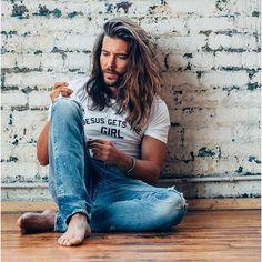 """Double tap if you like this style! Jack Greystone, Long Hair Beard, Beard Boy, Boys Long Hairstyles, Surfer, Hair Reference, Man Bun, Hair And Beard Styles, Mens Long Hair Styles"