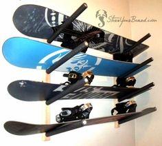 Snowboard Garage Rack | Snowboard Wall Rack | 4 Boards | SYB Basics  $44.99 #snowboard