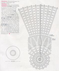 вязаная скатерть 0024 - схема