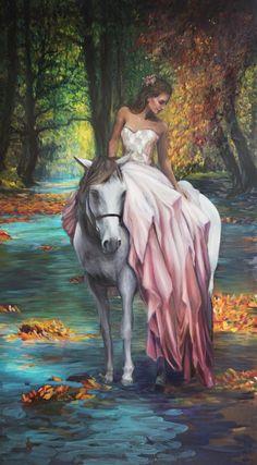 Eugenia ~ Peinture Originale ~ Lindsay Rapp Artiste - Lindsay Rapp Gallery