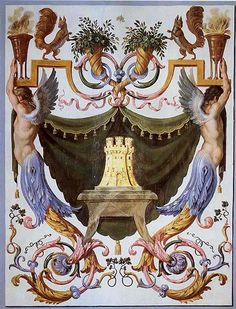 """The squirrel belongs to the Fouquet arms, a symbol of rapid ascension, with the motto """"Quo non ascendet"""" (""""Is there a position to which he will not rise?"""")"""