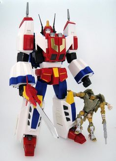 Transformers Masterpiece MP-24 Star Saber production sample (with Transformers Generations Rattrap)