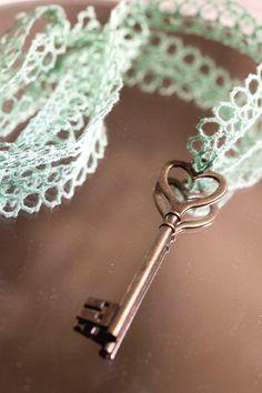 Tales of the Key Motif Under Lock And Key, Key Lock, Antique Keys, Vintage Keys, Green And Brown, Mint Green, Diy Jewelry, Jewelery, Old Keys