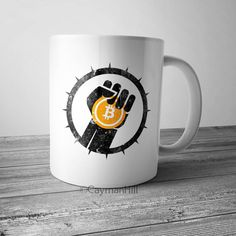 Funny Coffee Mug Bitcoin Revolution Coffee Cup Crypto Currency Cryptocurrency #Handmade