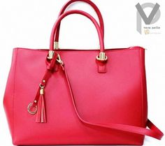 VERA PELLE Businesstasche 27cm Echtleder Schultertasche Luxus Rot Henkel Apropos