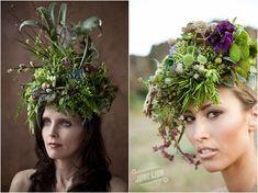 Floral Headdresses by Francois Weeks