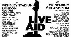 In the biggest charity concert in music history, more than 50 artists played in London + Philadelphia for 1.5 billion on global TV. Watch some great clips