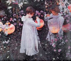 lily japonisme | ... of Beautiful Women . John Singer Sargent. Carnation, Lily, Lily, Rose