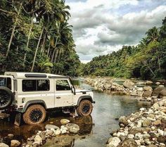 Land Rover Defender in a beautiful setting