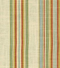 Waverly Upholstery Fabric-Stripe Ensemble Robin'S Egg