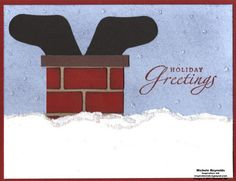 Stampin' Up!  Stocking Punch  Michelle Reynolds  Santa Boots