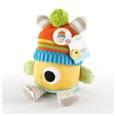 """Clyde the Closet Monster"" Knit Baby Hat and Plush Toy Gift Set"