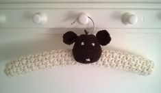 Hand knitted woolly sheep childrens clothes hanger £14.00