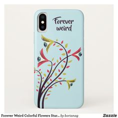 Forever Weird Colorful Flowers Staring Eyes iPhone X Case #s6gtp