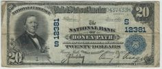 Honea Path, SC - Ch. 12381 - 1902 $20 Plain Back Honea Path is a small town in rural upstate South Carolina. It had a single national bank that was not chartered until 1922. The bank was founded by Benjamin D. Riegel, the same man who owned many of the textile mills in Honea Path and the surrounding areas. George Carroll Swetenburg was the cashier and only in his 20s when he started to manage the bank.