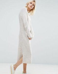 ASOS Midi Dress in Chunky Knit