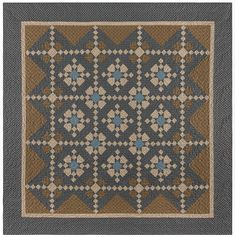 x 89 Beautiful blue and brown fabrics from Paula's new Baltimore House with Marcus Brothers. Baltimore House, Scrappy Quilts, Quilting, Antique Quilts, Square Quilt, Vintage Lace, Quilt Blocks, Patches, Colours