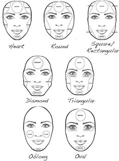 Contouring by face shape. I'm so tired of people trying to contour my already narrower forehead (I'm a diamond face). Contouring by face shape. I'm so tired of people trying to contour my already narrower forehead (I'm a diamond face). Face Contouring, Contour Makeup, Contouring And Highlighting, Skin Makeup, Contour Face, Contouring Tutorial, Contouring Guide, Eyebrow Tutorial, Contour Kit