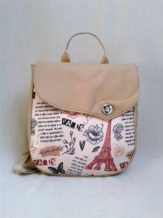 6d2fd28cb3 Párizs mintás hátizsák, kizárólag romantikusoknak! Saját tervezésű,  egyedileg nyomott, szép, mozgalmas