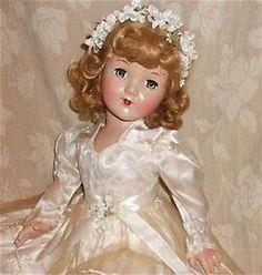 Old Dolls, Antique Dolls, Vintage Dolls, Effanbee Dolls, Bride Dolls, Sewing Dolls, Beautiful Dolls, 1940s, Composition