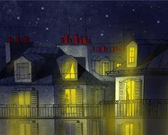 Fine Art, Paris, Mansions, House Styles, Painting, Etsy, Shopping, Home Decor, Montmartre Paris