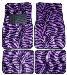 Amazon.com: Purple Zebra White Tiger Animal Print Carpet Floor Mats for Cars / Truck - A Set of 4 Universal Fit: Automotive