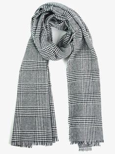 Cheap Fashion online retailer providing customers trendy and stylish clothing including different categories such as dresses, tops, swimwear. Black And White Scarf, Long Scarf, Houndstooth, Stylish Outfits, Women Accessories, Plaid, Swimwear, Pattern, Clothes