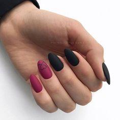 "Exclusive Black and Reddish Pink Nail Art Designs 2019 Exclusive Black and Reddish Pink Nail Art Designs ""pinner"": {""username"": ""sassysnippy"", ""first_name"": ""Brittany"", ""domain_url"": null, ""is_default_image"": false, ""image_medium_url"":. Matte Pink Nails, Pink Nail Art, Gel Nails, Nail Polish, Pink Black Nails, Nail Black, Wine Nails, Matte Red, Nail Nail"