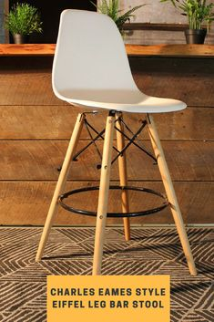 This replica Charles Eames style Barstool is a funky retro stool, yet with a modern look. Finally there is a perfect combination to your Replica Charles Eames Chairs! Eames Chairs, High Bar Stools, Designer Bar Stools, Charles Eames, Plastic Molds, Mid Century Modern Design, Mid-century Modern, Retro