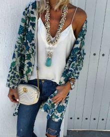 denim, bag, necklace, zara, mango, bohemian, bohochic Summer Fashion Trends, Spring Summer Fashion, Autumn Fashion, Style Summer, Summer Ootd, Summer Trends, Fashion Ideas, Boho Outfits, Casual Outfits