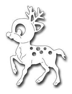 Frantic Stamper Precision Die - Cute Rudolph-Our Cute Rudolph die is sized to work with the Reaching Santa or the Santa With Toy Bag ( Felt Christmas Decorations, Christmas Paper Crafts, Christmas Ornaments To Make, Christmas Colors, Holiday Crafts, Christmas Crafts, Rudolph Christmas, Christmas Stencils, Christmas Templates