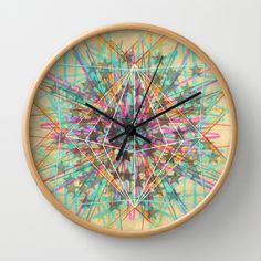Starburst Wall Clock by Dood_L - $30.00