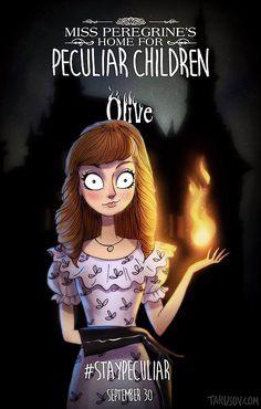 Olive (Emma). El hogar de Miss Peregrine para niños peculiares. Andrew Tarusov