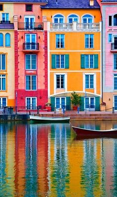 ↰✯↱lugares - The gorgeous colors of Portofino, Italy. Places Around The World, Oh The Places You'll Go, Places To Travel, Places To Visit, Around The Worlds, Dream Vacations, Vacation Spots, Italy Vacation, Portofino Italy