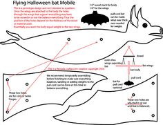Free Patterns and ideas: Halloween flying bat mobile