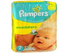 Pampers Swaddlers Size 2  Pampers Swaddlers are the softest diapers among the leading brands. #babygifts #babyshower #babygear #babyseats #diapers #nursery #strollers