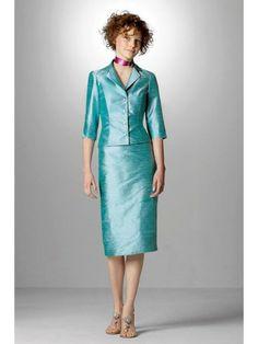 Dupioni bracelet-Length Sleeves Knee-Length Bridesmaid Dress