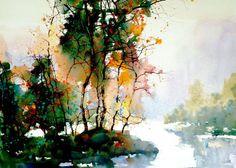 Z. L. Feng watercolor