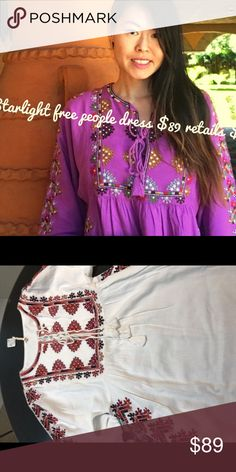 Free people top Free people I ran out of Small on purple but have it in white Free People Tops Tunics