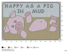 Happy as a pig in mud sign