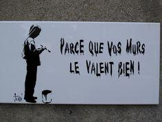 street art - faience Tuco - parce que vos murs le valent bien (1)
