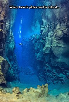 Funny pictures about Gigantic Tectonic Plates Under The Sea. Oh, and cool pics about Gigantic Tectonic Plates Under The Sea. Also, Gigantic Tectonic Plates Under The Sea photos. Tectonique Des Plaques, Places To Travel, Places To See, Underwater Photography, Adventure Is Out There, Scuba Diving, Cave Diving, Belle Photo, Under The Sea