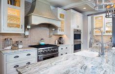 Kitchen quartzite countertop. Trendy quartzite counters for kitchens. The kitchen countertops are Quartzite in Fantasy Brown. #Kitchen #Quartzite #FantasyBrown  Mike Schaap Builders