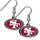 San Francisco Forty Niners Logo Earrings #ultimatetailgate #fanatics