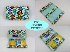 PDF Sewing Pattern - First Aid pouch, two clear zipper pouches - Instant Download