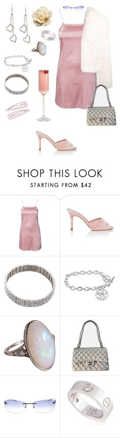 """""""drinks on me"""" by fakeplastic ❤ liked on Polyvore featuring Oh My Love, Manolo Blahnik, Alexandre Vauthier, Magda Butrym, Chanel, Gucci and Cartier"""