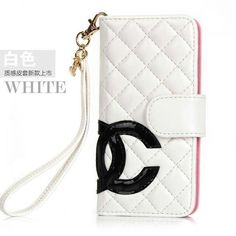 Chanel iPhone 6 plus Cases Designer buy leather Cover white Free Shipping - Deluxeiphonecase.com