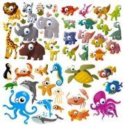 Vector De Dibujos Animados Mar Animales-dibujos Animados Del Vector-vector Libre Descarga Gratuita