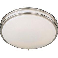 Brushed Nickel Medium Fluorescent Flush Ceiling Light Minka Lavery Flush Mount Flush & Sem