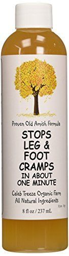 Caleb Treeze Organic Farms Stops Leg  Foot Cramps 8 oz by Caleb Treeze ** ** AMAZON BEST BUY ** #OrganicAppleCiderVinegar